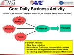 core daily business activity