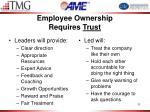 employee ownership requires trust