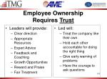 employee ownership requires trust1