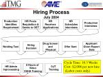 hiring process july 2004