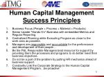 human capital management success principles