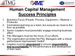 human capital management success principles1