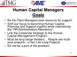 human capital managers goals