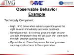 observable behavior example