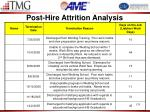 post hire attrition analysis