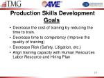 production skills development goals