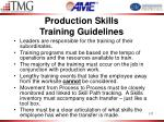 production skills training guidelines