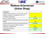 reduce grievances union shop
