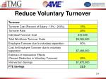 reduce voluntary turnover