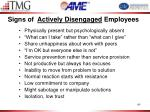 signs of actively disengaged employees