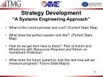 strategy development a systems engineering approach