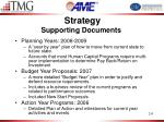 strategy supporting documents