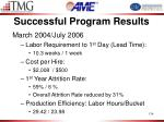 successful program results