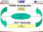 think strategically act tactically