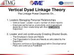 vertical dyad linkage theory the linkage power depends on
