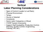 vertical labor planning considerations