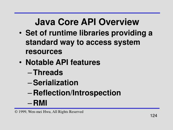 Java Core API Overview