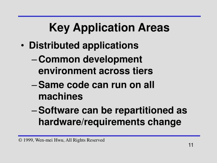 Key Application Areas