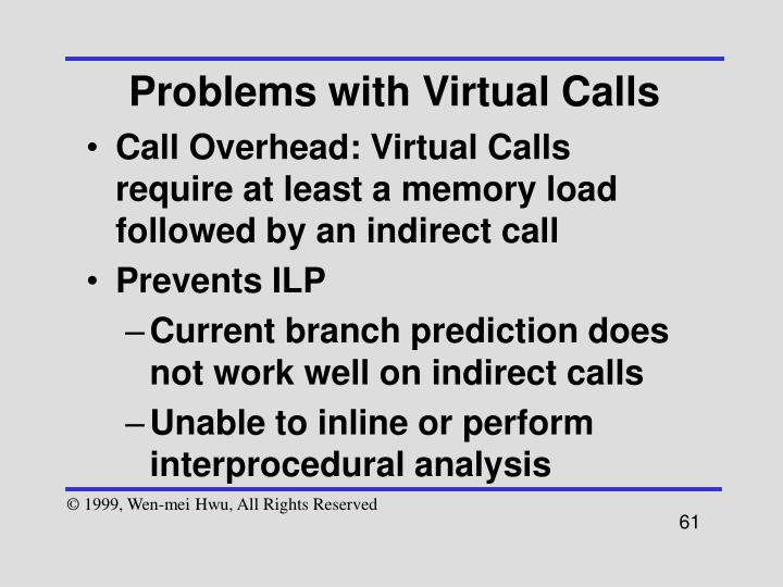 Problems with Virtual Calls
