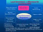 local governance a showcase for localizing mdg
