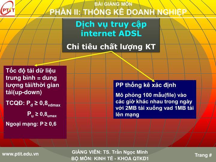Dịch vụ truy cập internet ADSL