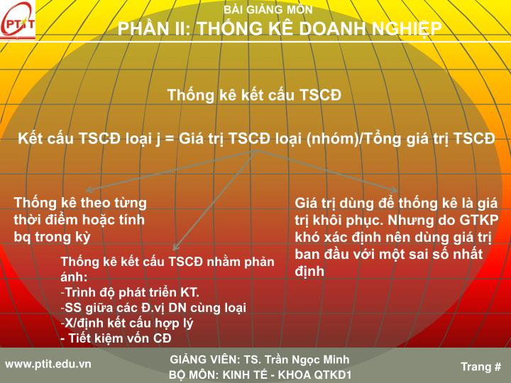 Thống kê kết cấu TSCĐ