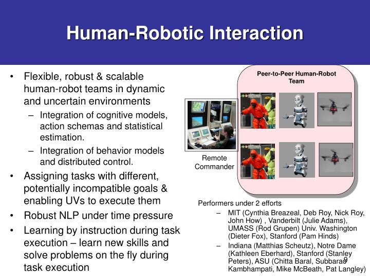 Human-Robotic Interaction