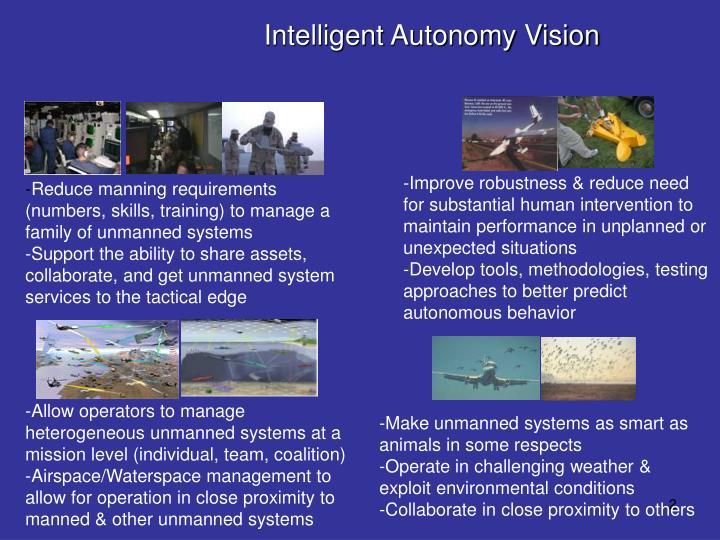 Intelligent autonomy vision