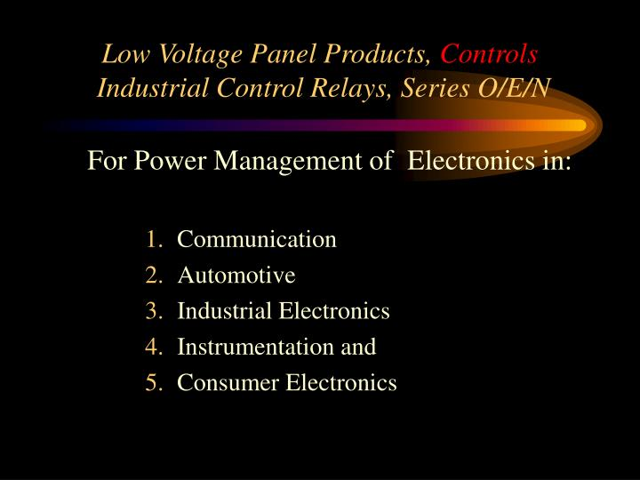 Low Voltage Panel Products,