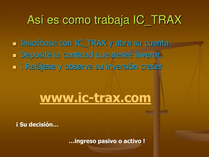 Así es como trabaja IC_TRAX