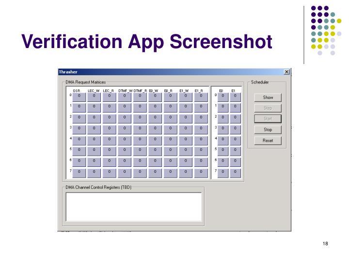 Verification App Screenshot