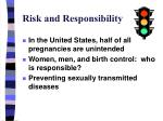 risk and responsibility
