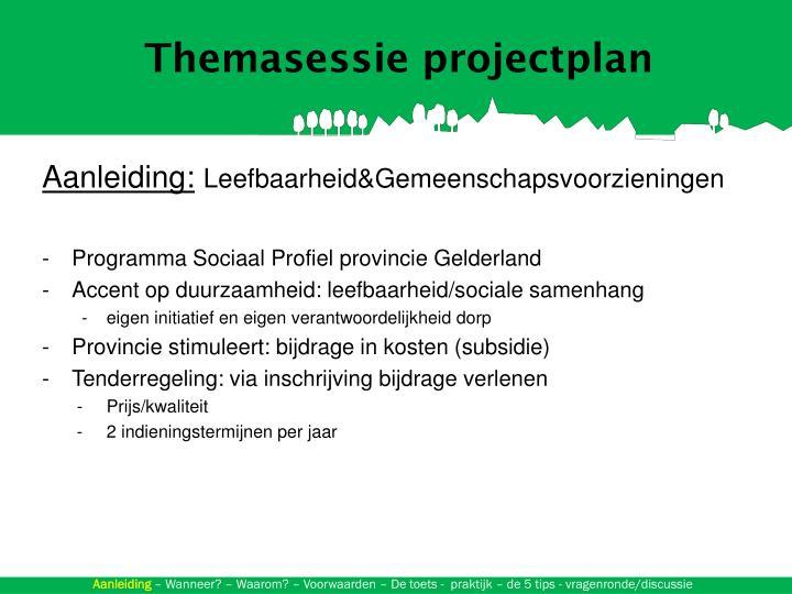 Themasessie projectplan
