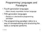 programming languages and paradigms2