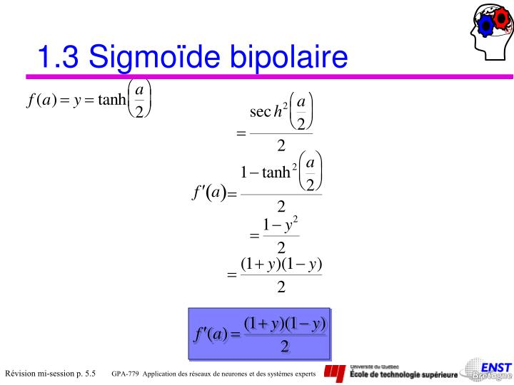 1.3 Sigmoïde bipolaire