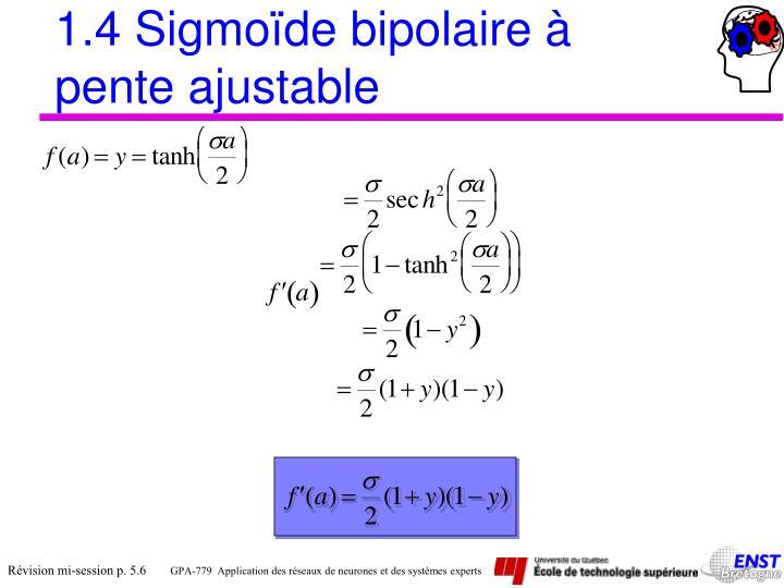 1.4 Sigmoïde bipolaire à pente ajustable
