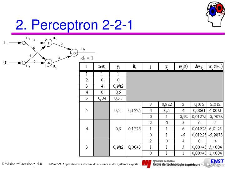 2. Perceptron 2-2-1