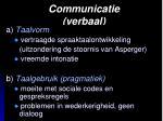 communicatie verbaal