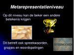 metarepresentatieniveau