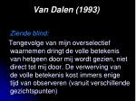 van dalen 19931