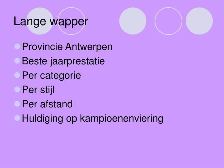 Lange wapper