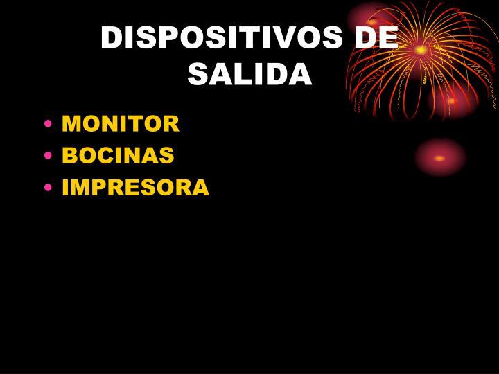DISPOSITIVOS DE SALIDA