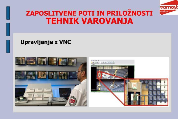Upravljanje z VNC