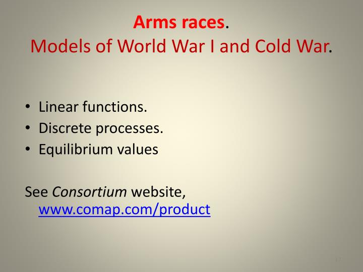 Arms races