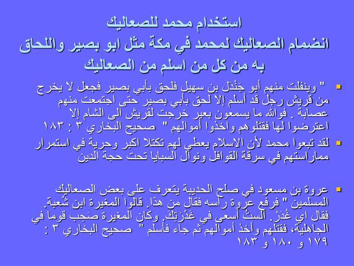 استخدام محمد للصعاليك