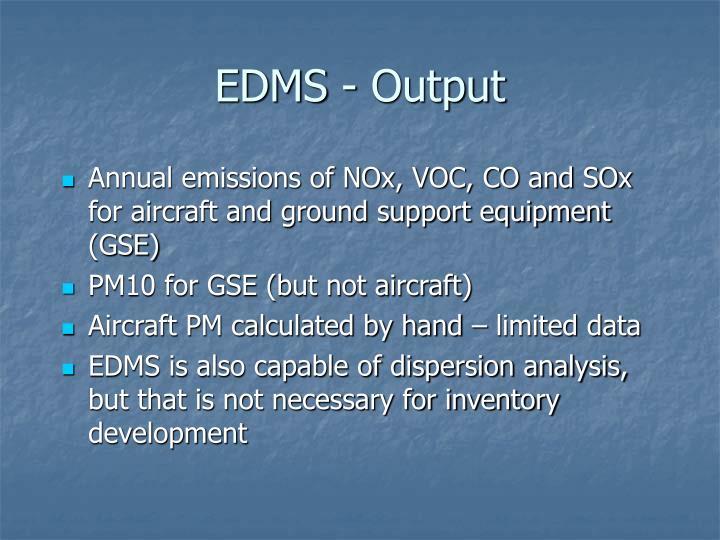 EDMS - Output
