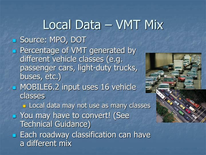 Local Data – VMT Mix