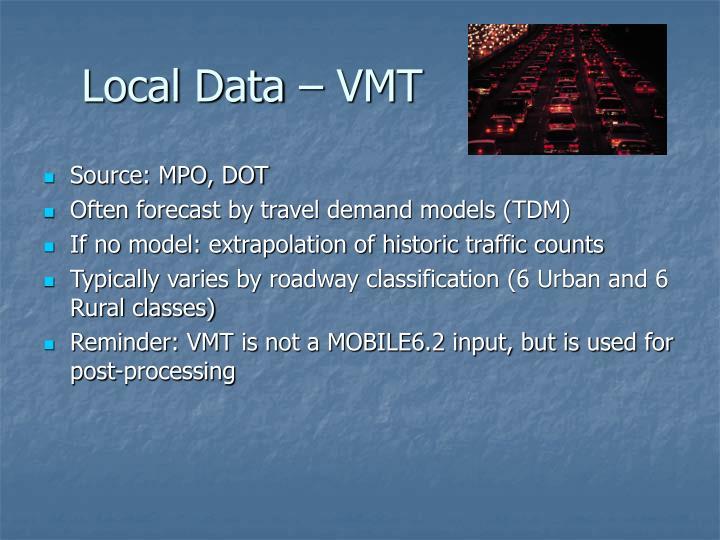 Local Data – VMT