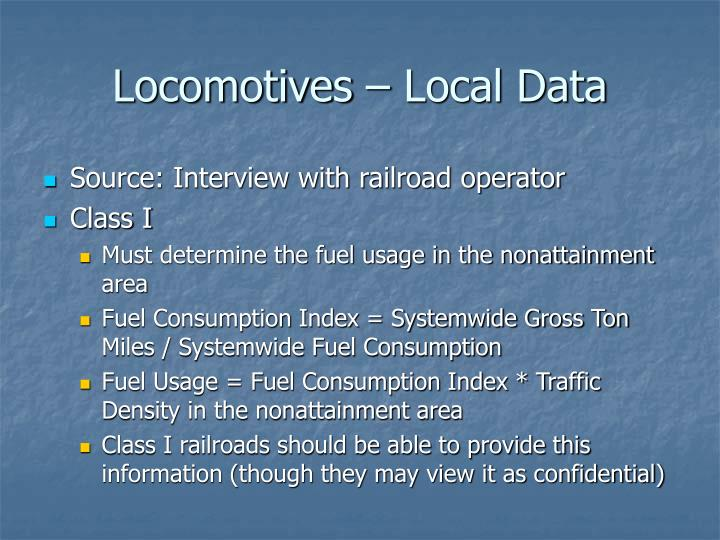 Locomotives – Local Data