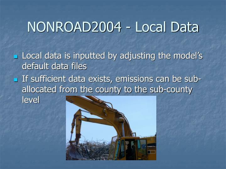 NONROAD2004 - Local Data
